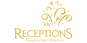 receptions logo in gold and white