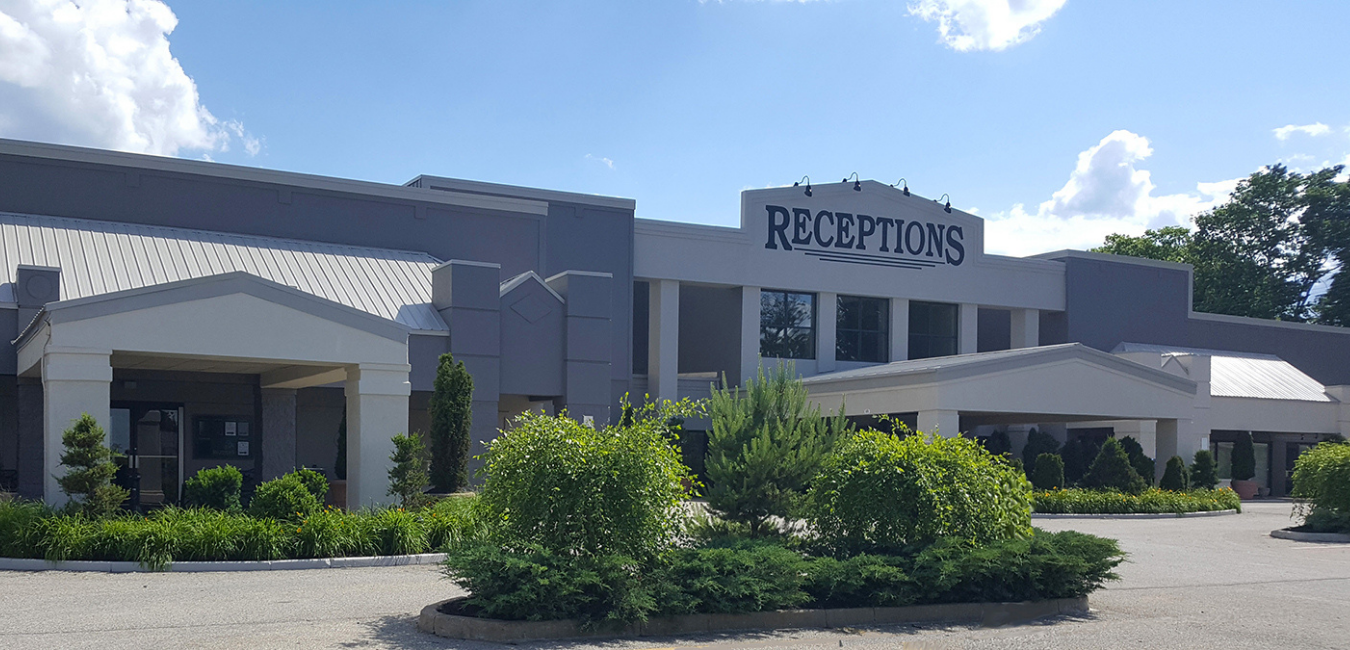 receptions event centers fairfield outside building