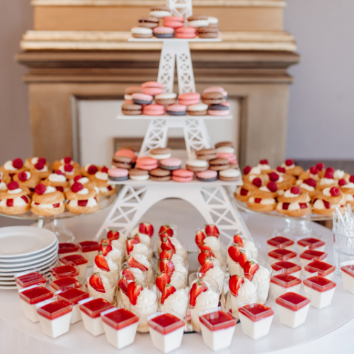 tower of desserts
