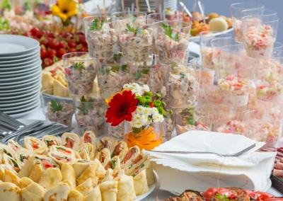 food buffet at a seminar